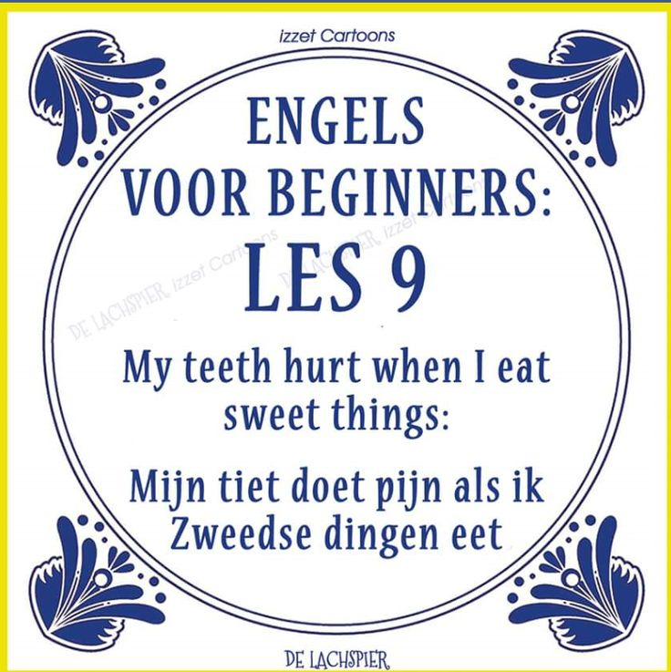 Translation of the Dutch explanation: My boob hurts when I eat Swedish things