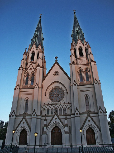 St John the Baptist Catholic Church in Savannah, Georgia.  One of the most beautiful churches I have Ever seen!!! www.riversendcampground.com