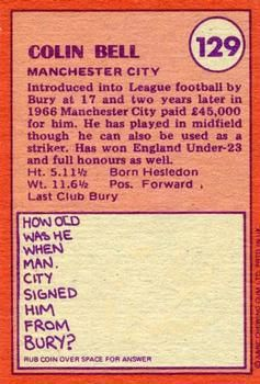1974-75 A&BC Gum #129 Colin Bell Back