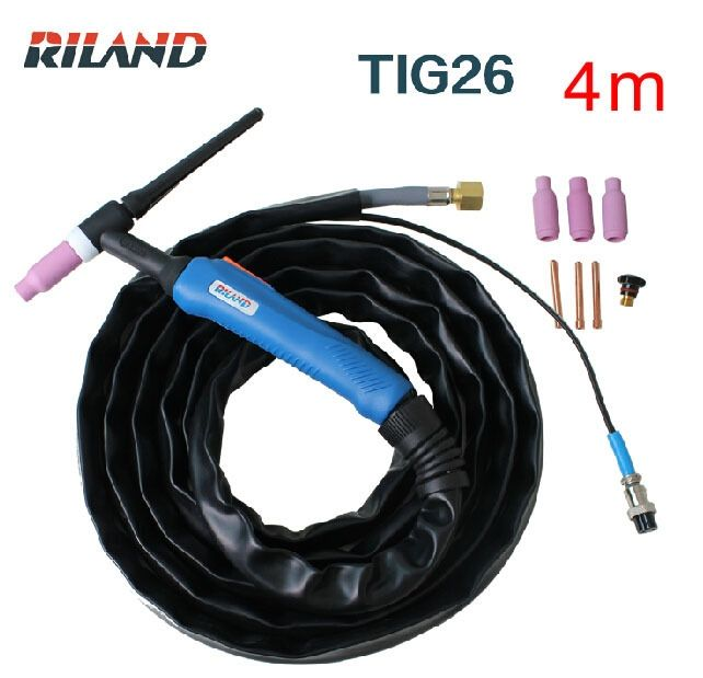 (59.00$)  Know more - http://aih8q.worlditems.win/all/product.php?id=32444269691 - Ruiling tig welding machine  accessories tig torch WP26  4m tig gun /Argon arc welding gun TIG26 air cooling