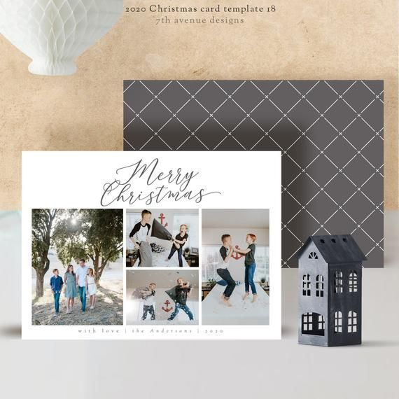 2020 Christmas Card Templates Vol 18 7x5 Inch Card Template Etsy Christmas Card Template Card Templates Card Template