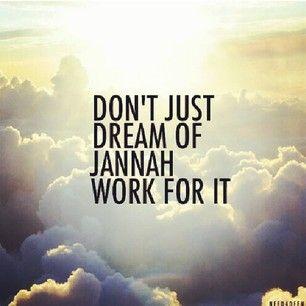 Work towards jannah