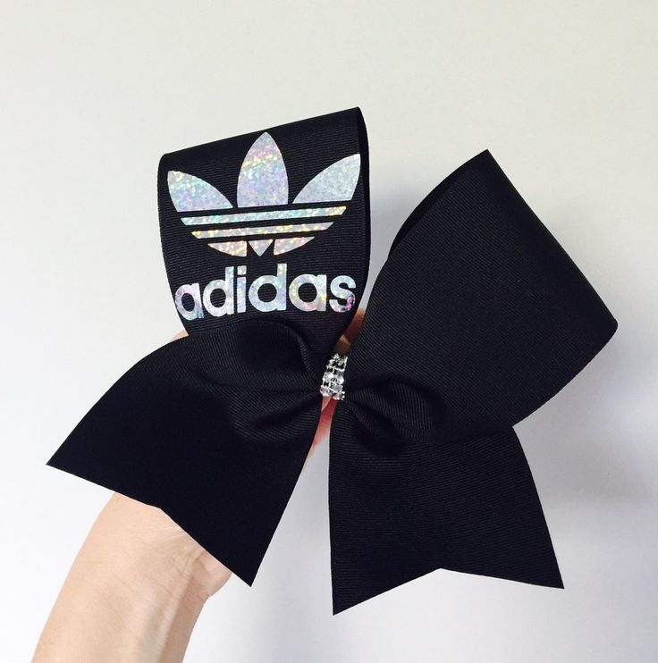 Adidas Black Holographic Cheer Bow