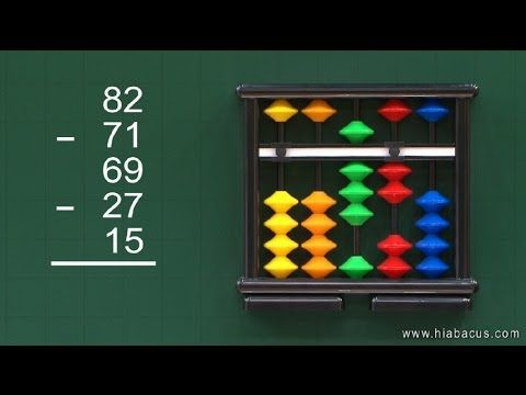 Abacus math lesson 35 - Addition & subtraction of 5 rows (1)