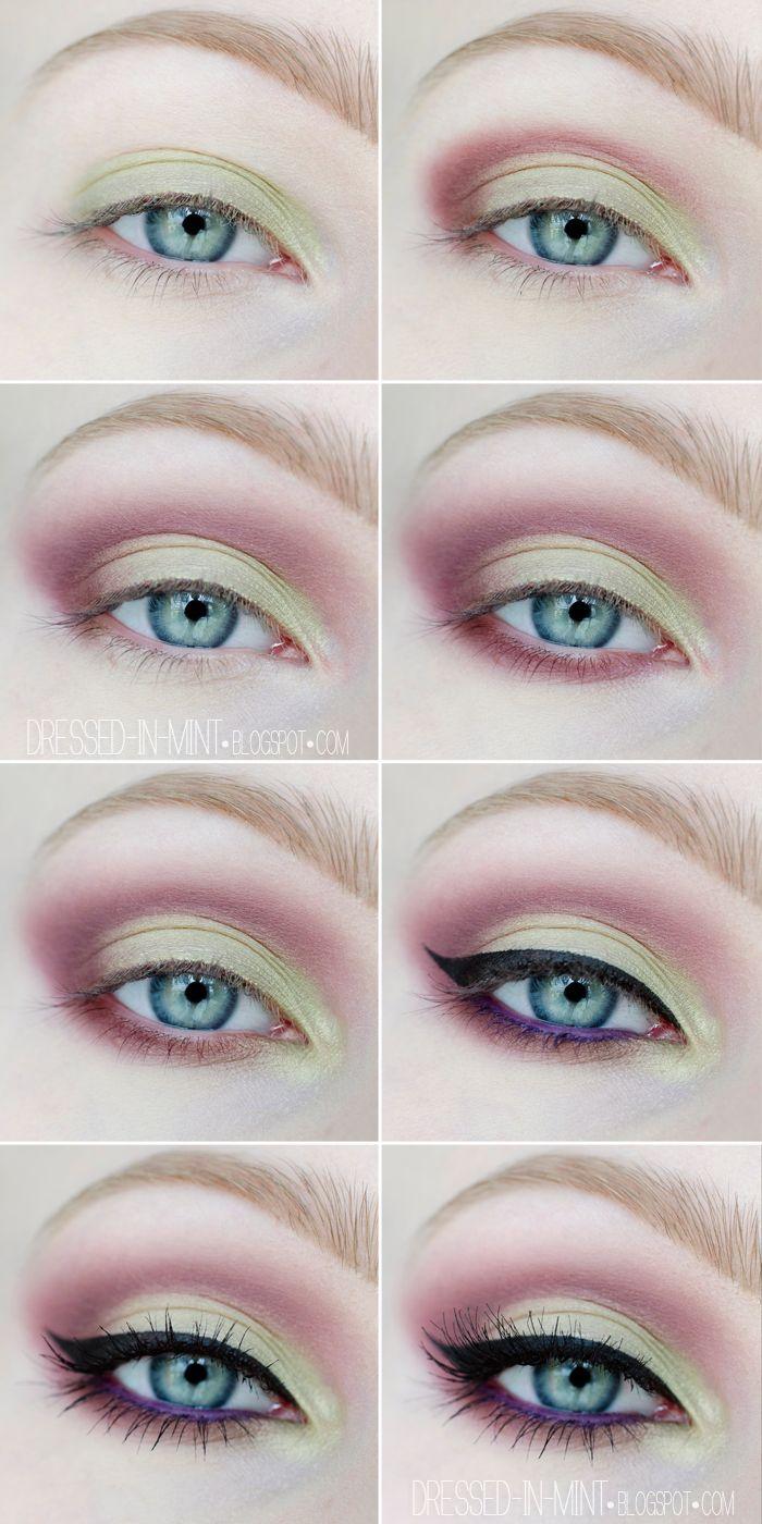 Make up. - PISTACJE z fioletem / step by step