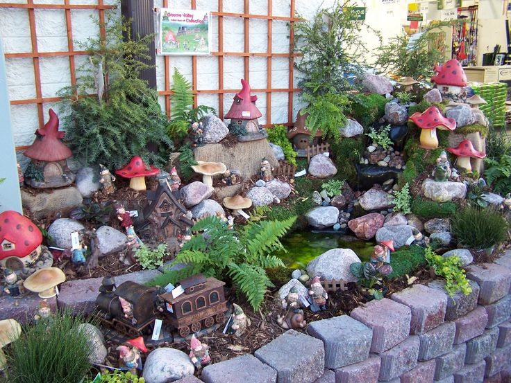 Gnome Garden Ideas fairy garden gnome home wwwthemagiconionscom i love the felt ball garland Gnome Garden One Day I Hope Mine Is This Large