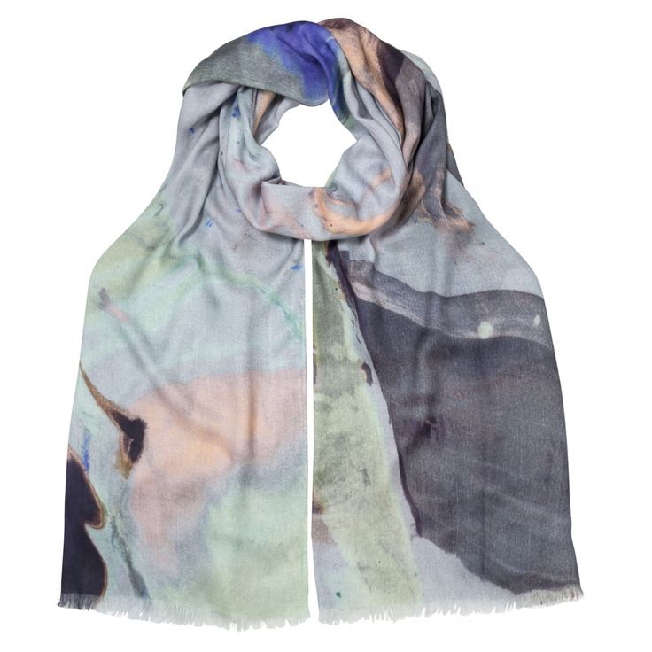 Buy the Mineral Print Scarf at Oliver Bonas. Enjoy free worldwide standard delivery for orders over £50.