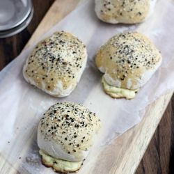 "Everything"" Bagel Bombs oozing with a Jalapeno-Cheddar Cream Cheese ..."