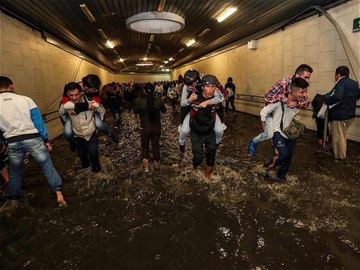 Inundación en Transmilenio