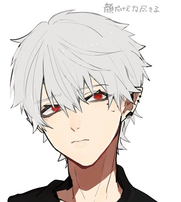 Pin By Iilllili Il Lllilii On Vtuber Boy With White Hair Anime Boy Anime Guys