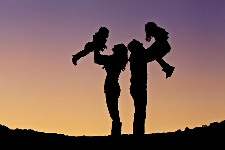 Family silhouette photography in Phoenix , Arizona