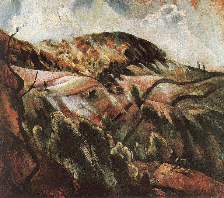 István Szőnyi :: Zebegény hills (Sunny landscape) :: Hungarian Fine Arts Gallery