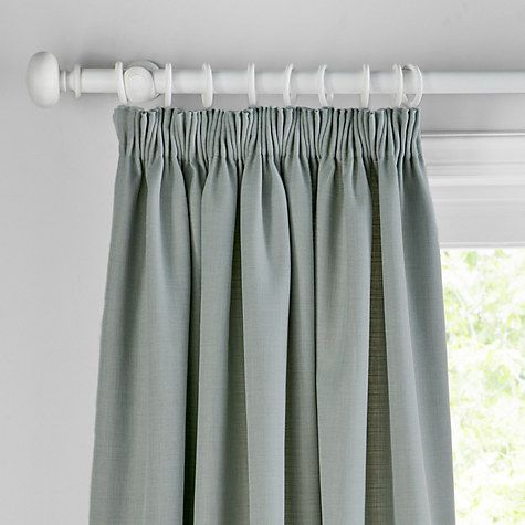 Buy John Lewis Barathea Blackout Lined Pencil Pleat Curtains Online at johnlewis.com. Colour: Sorrel. For small bedroom.