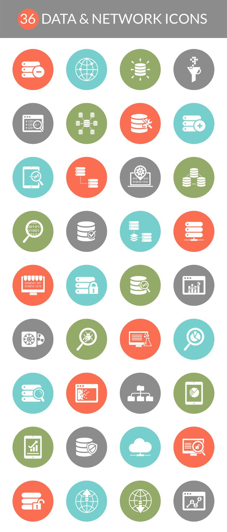 36 Free Data & Network Icons