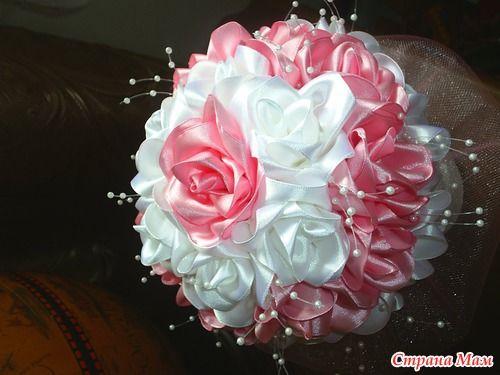 Букет невесты из атласных лент. Обсуждение на LiveInternet - Российский Сервис Онлайн-Дневников