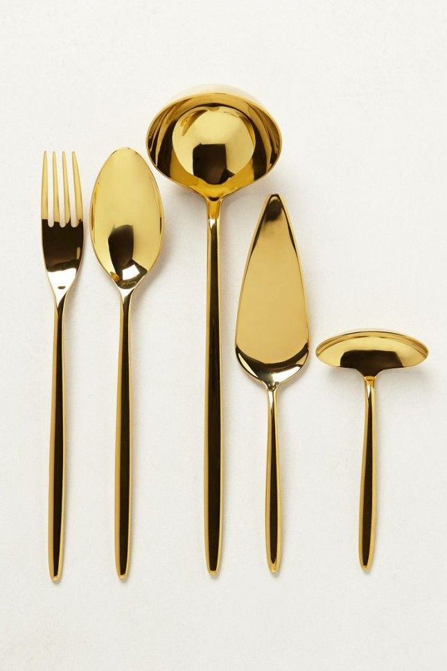 gold serving ware - modern and chic