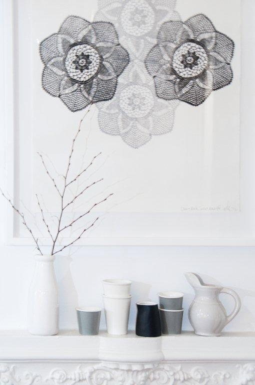 New purchase. Lace Mandala print from Emma Cleine, Lumiere Art + Co