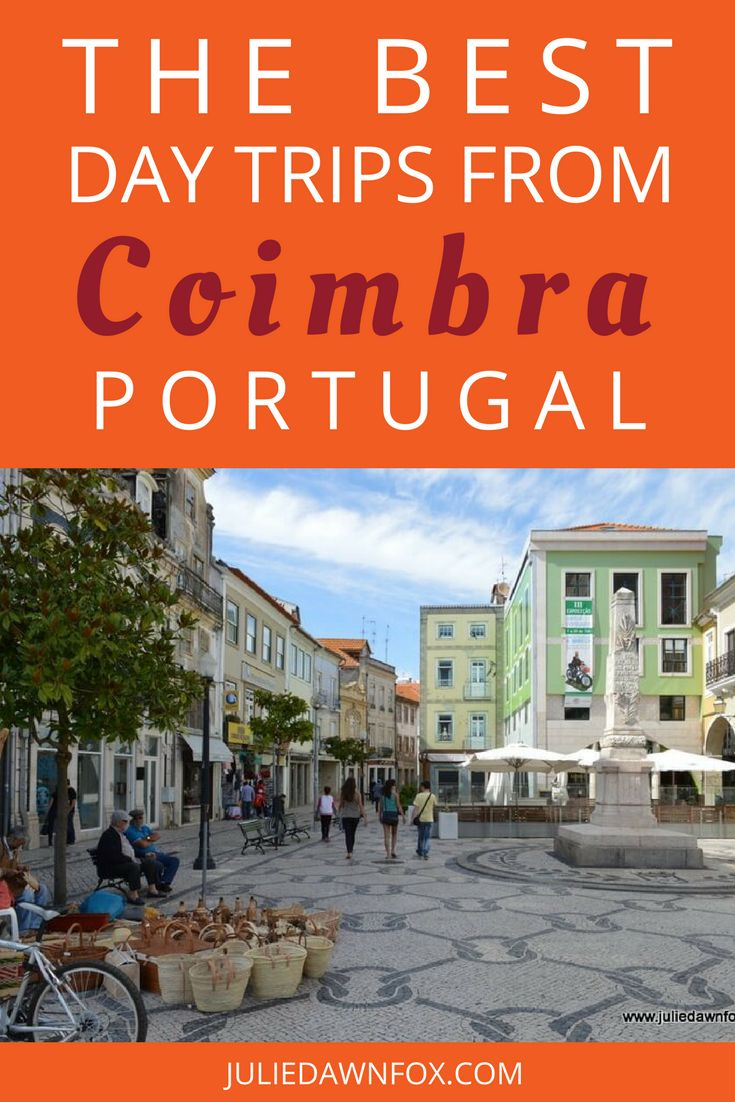 Coimbra deserves more time than just a day trip - in fact it is the perfect base for Central Portugal, with many incredible sights within day trip distance. Click through to read my favorite day trips from Coimbra, Portugal, including beaches, forests, palaces, convents, mountain villages, Roman ruins, canals, and medieval castles. | Julie Dawn Fox in Portugal #portugal #daytrips #coimbra #centralportugal