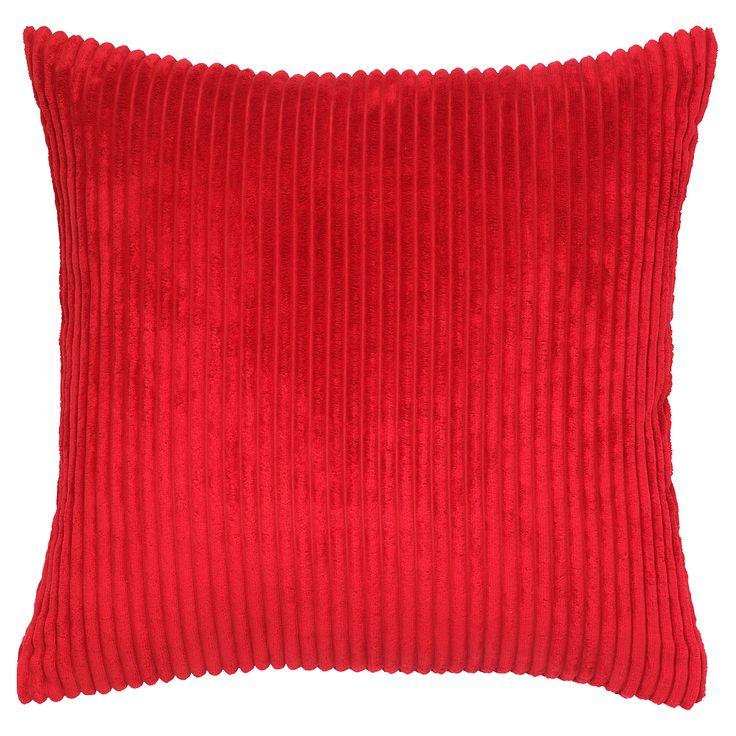 George Home Red Soft Jumbo Cord Cushion - 50x50cm | Cushions & Throws | ASDA direct