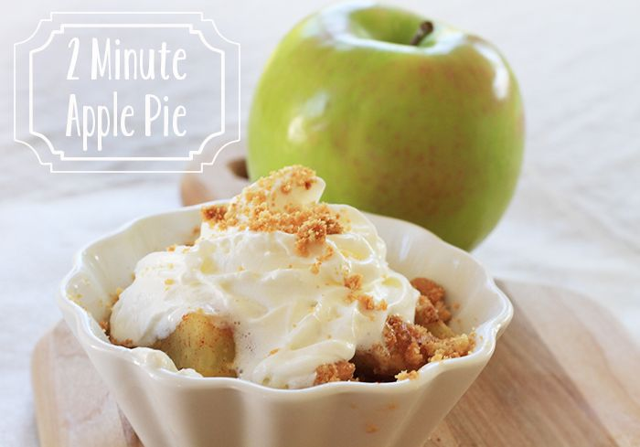 2-Minute Single Serve Microwave Apple Pie Recipe | Prudent Baby