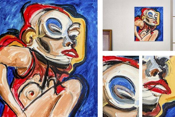 se puede apreciar el trabajo de la pintura, aumentando sus detalles.