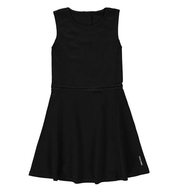 Tumble 'n Dry mouwloze jurk model Amelup, ronde hals met aan de achterzijde een ritssluiting, Shop @ http://www.nummerzestien.eu/tumble-n-dry-junior-korte-jurken-amelup-zwart_22226.html