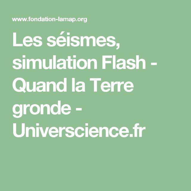 Les séismes, simulation Flash - Quand la Terre gronde- Universcience.fr