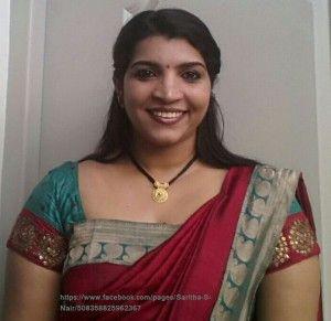 saritha s nair hot saree selfie photos
