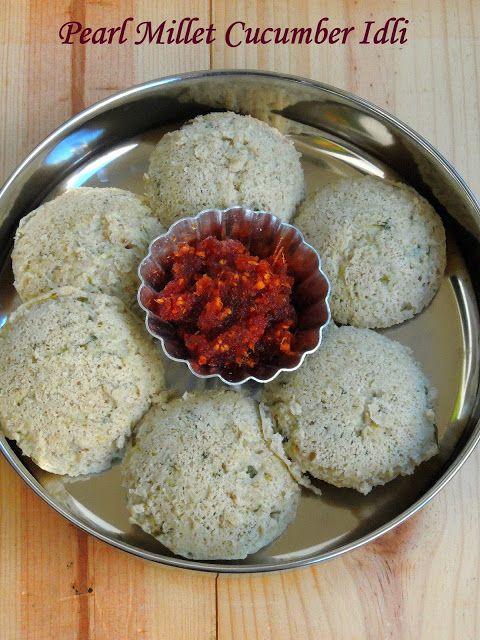 Pearl Millet, Cucumber Idli, Kambu Vellarikaai Idli