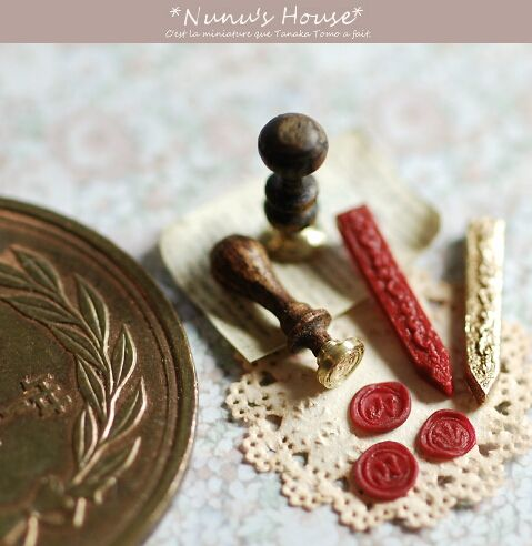 Sealing wax- do this as part of a writing set, 1/3 scale