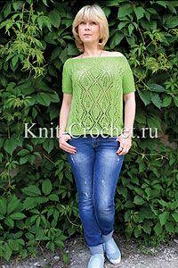 Пуловеры женские спицами - Вязание спицами - Каталог статей - Вязание спицами и крючком