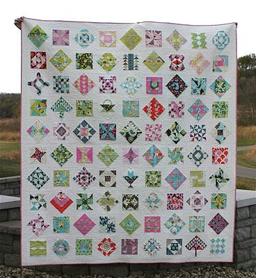 LOVE this layout for the Farmer's Wife Quilt.  Think this may be the direction I take mine.
