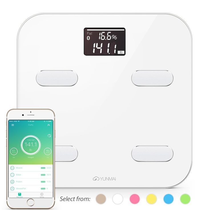 Yunmai Bluetooth 4.0 Smart Scale and Body Fat Monitor - 10 Precision Body Composition Measurements - Body Fat, BMI and More - 16 Users recognized - Smartphone App for Healthy Weight Loss Tracking >>> Read more reviews of the product by visiting the link on the image.
