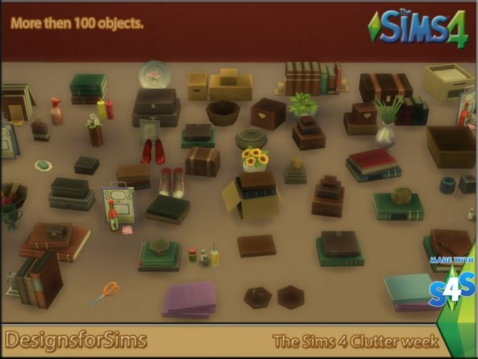 Project The Sims 4 Clutter week at Designs for Sims via