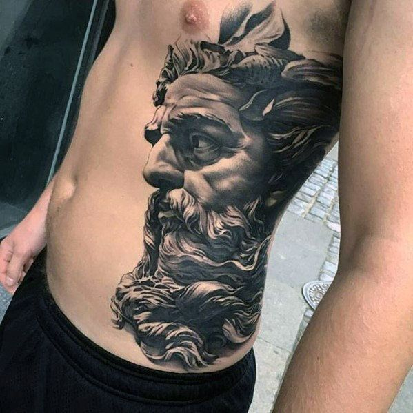 50 Awesome 3d Chest Tattoo Designs Gravetics Greek God Tattoo God Tattoos Greek Tattoos