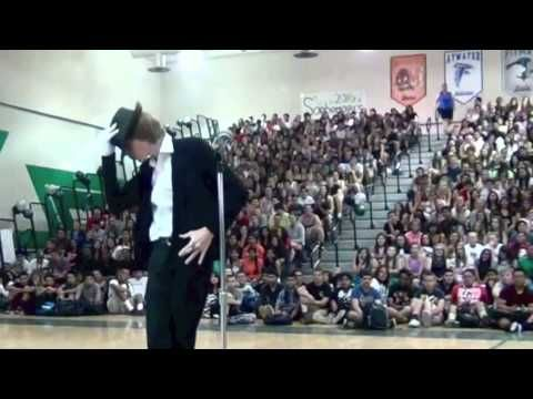 MJ would be proud.   Small Town High School Student Absolutely Crushes Michael Jackson Impression At Talent Show