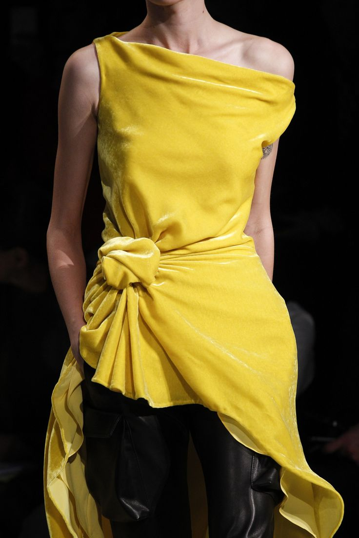 Black dress yellow accessories - Monse Fall 2017 Ready To Wear Accessories Photos Vogue