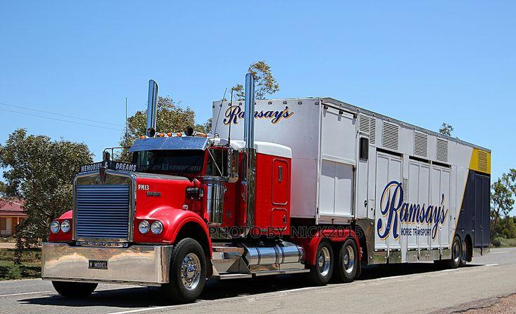 Ramsays Horse Transport - Kenworth W Model | TRUCKFLICKS | Flickr
