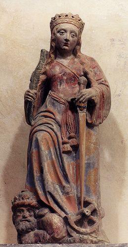 Poligny, Collégiale St.Hippolyte, St. Catherine Jura, France