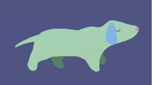 illustration sausage dog gif
