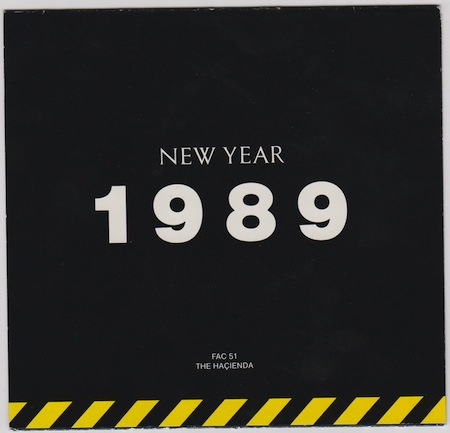 FAC 51 The Hacienda Christmas / New Year 1988 / 1989 flyer