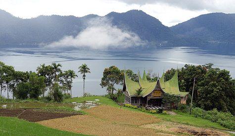lake maninjau in west sumatera