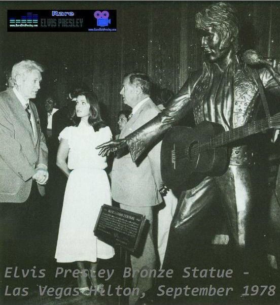 Vernon and Priscilla at unveiling of Elvis Bronze Statue - Las Vegas Hilton, September 1978.