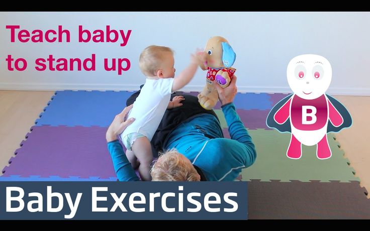 With this fun activity you teach your baby how to stand up. Want more inspiration on how to teach your baby new skills, like crawling and walking? http://www...