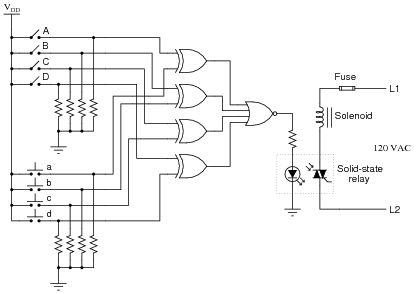 Electronic Door Lock Circuit Diagram Here is a schematic