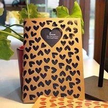 Vintage Kraft Blanco Papier Notebook Retro Dagboek Journal Schrijfmap Romantische Boek Briefpapier Liefde Geschenken Gratis verzending 155(China (Mainland))
