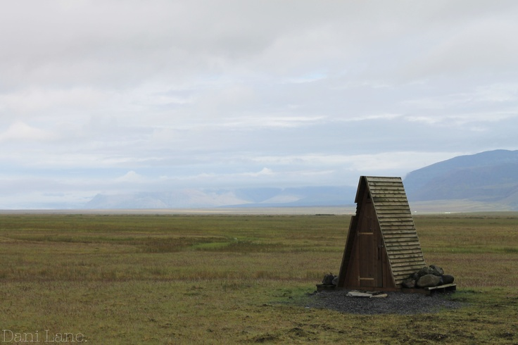 Toilet in the middle of nowhere. Iceland.