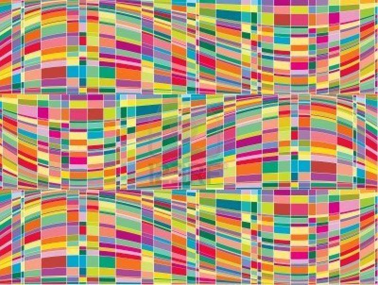 Mosaico de color matriz op art (vector)   Foto de archivo - 2641076