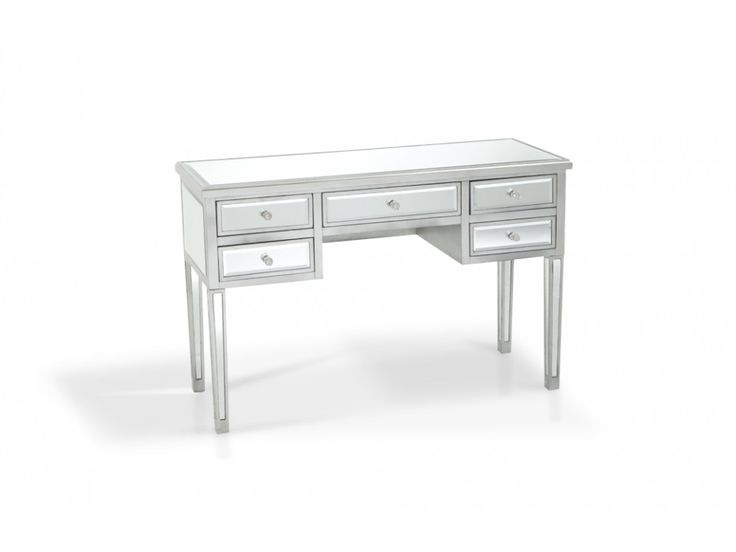 5 Drawer Mirrored Desk Mirror Desk Desks And Drawers