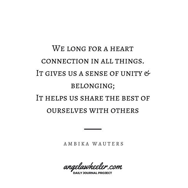 H E A R T ✵ We long for a heart connection in all things.  It gives us a sense of unity & belonging; it helps us share the best of ourselves with others - Ambika Wauters, The Complete Guide to Chakras  #findyourself #mindbodyspirit #heart #heartchakra #connection #belonging #quotes #healyourself #energyhealing #spiritjunkie